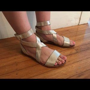 Alice + Olivia Metallic Sandals